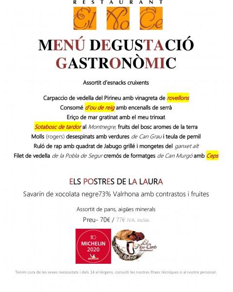menu degustació restaurant el noucents mataró